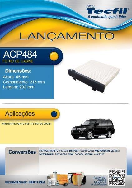 Filtro De Cabine Mitsubishi Pajero Full Acp484 7803a028
