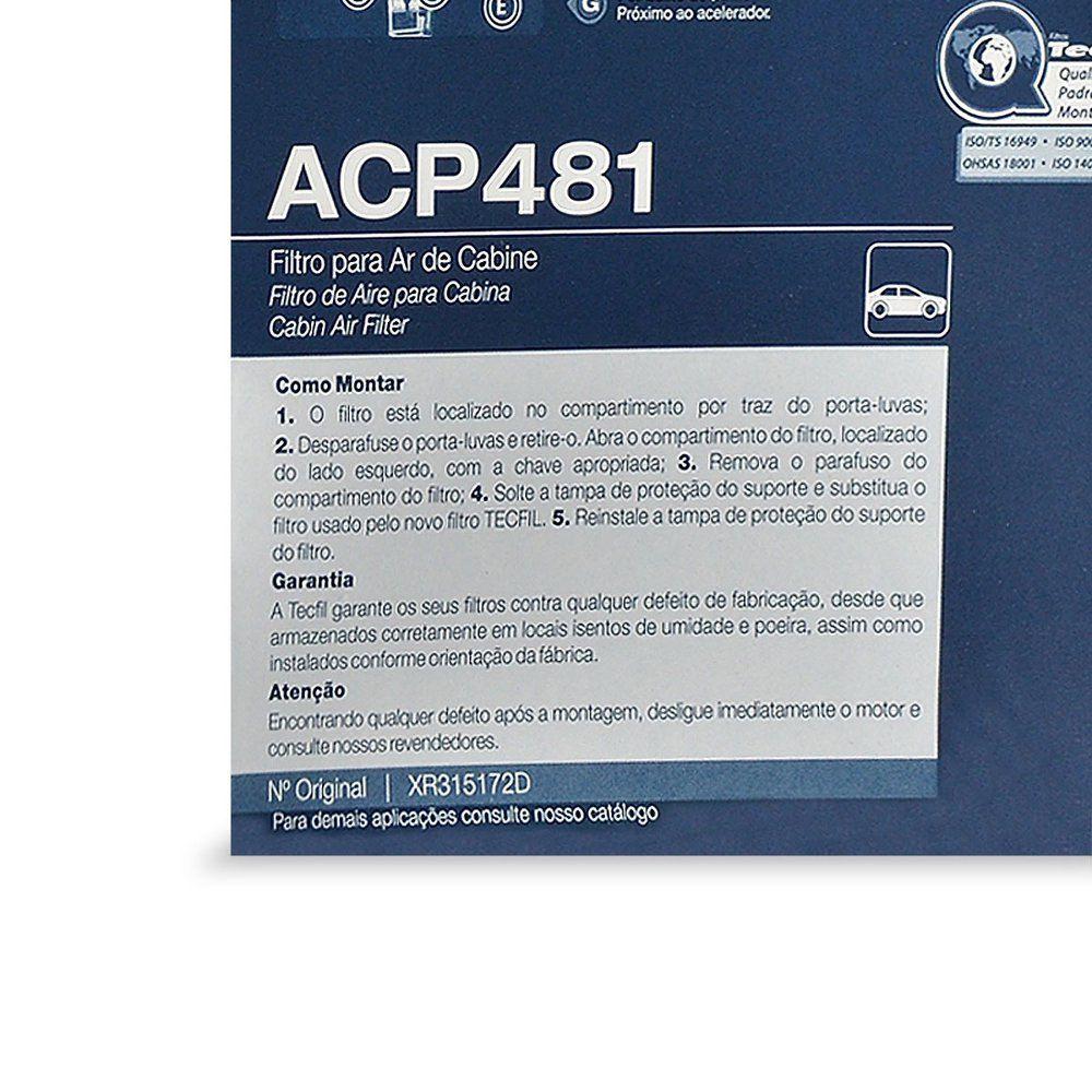 Filtro De Cabine Mitsubishi Pajero Tr4 Acp481 Xr315172d