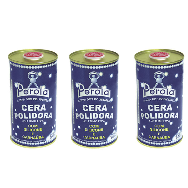 KIT 3X CERA POLIDORA PÉROLA 500ML