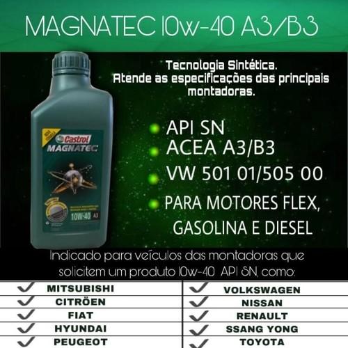 Kit 4 Litros Oleo Castrol Magnatec 10w40 Sn A3 + Militec