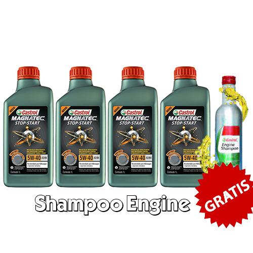 KIT 4 LT 5W40 502 + Engine Shampoo Gratis