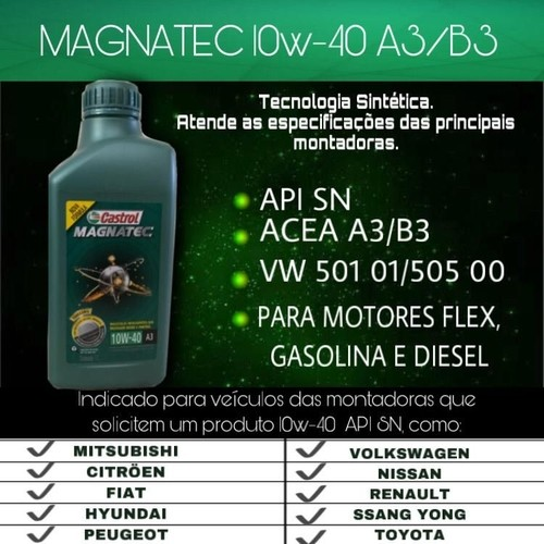 Kit 5 Litros Castrol Magnatec 10w40 Sn + Psl55