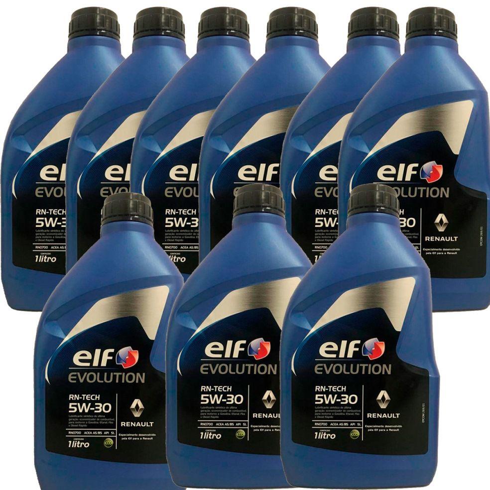 KIT 9 ELF Evol RN TECH 5W30 sintetico + PEL678