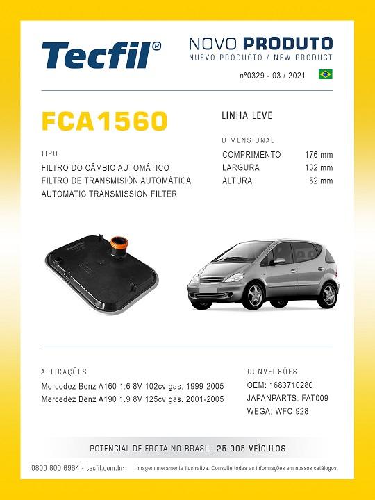 TECFIL-F.CAMBIO MB 1.6 8v 102cv 1999A2005 FCA1560
