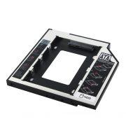 Adaptador DVD para HD ou SSD Notebook Drive 12.7mm Sata