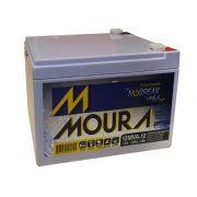Bateria Moura Estacionaria 12V 12AH Selada Nobreak Alarmes 12MVA-12
