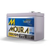 Bateria Moura Estacionaria 12v 7ah Selada Nobreak Alarmes 12mva-7
