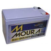 Bateria Moura Estacionaria 12V 9AH Selada Nobreak Alarmes 12MVA-9