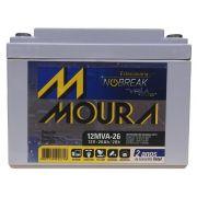 Bateria Moura Estacionaria Nobreak Selada 12v 26AH 12mva-26