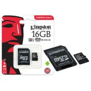 Cartao de Memoria Classe 10 Kingston SDCS/16GB Micro SDHC 16GB 80R/10W UHS-I U1 Canvas Select
