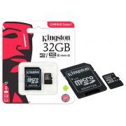 Cartao de Memoria Classe 10 Kingston SDCS/32GB Micro SDHC 32GB 80R/10W UHS-I U1 Canvas Select