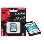 Cartao de Memoria Classe 10 Kingston SDG/32GB SDHC 32GB 90R/45W UHS-I U3 V30 Canvas GO