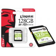 Cartao de Memoria Classe 10 Kingston SDS/128GB SDXC 128GB 80R/10W UHS-I U1 Canvas Select