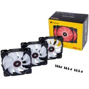 Cooler para Gabinete Corsair AF120 120MM LED Vermelho CO-9050083-WW C/ 03 UND