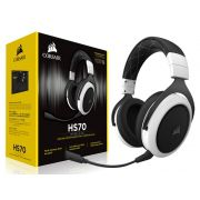 Headset Gamer Corsair HS70 Wireless Surround 7.1 Branco CA-9011177-NA