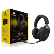 Headset Gamer Corsair HS70 Wireless Surround 7.1 Carbon CA-9011179-NA