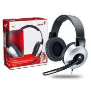 Headset Genius Deluxe Prata  ARCO Ajustavel HS-05A
