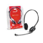 Headset Genius SLIM PRET ARCO Ajustavel HS-200C