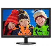 Monitor Philips 18,5 LED 1366X768 Wide VGA Vesa Preto 193V5LSB2