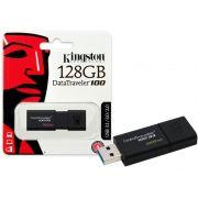 Pen Drive 128GB Kingston USB 3.0 Datatraveler 100 G3 DT100G3/128GB