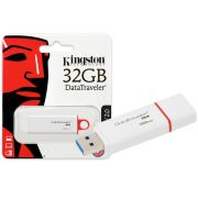Pen Drive 32GB Kingston Vermelho USB 3.0 Datatraveler Generation 4 DTIG4/32GB