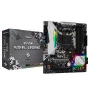 Placa Mae ASROCK B450M Steel Legend AM4 / USB 3.1/ TYPE-C/ Displayport, HDMI