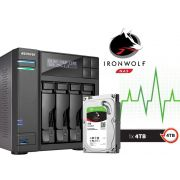 Sistema de Backup NAS com Disco Ironwolf Asustor AS6204T4000 INTEL Quad Core J3160 1,6GHZ 4GB DDR3 Torre 4TB