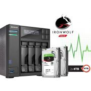 Sistema de Backup NAS com Disco Ironwolf Asustor AS6204T8000 INTEL Quad Core J3160 1,6GHZ 4GB DDR3 Torre 8TB