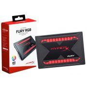 SSD Gamer HYPERX FURY 480GB 2.5 RGB SATA III SHFR200/480G