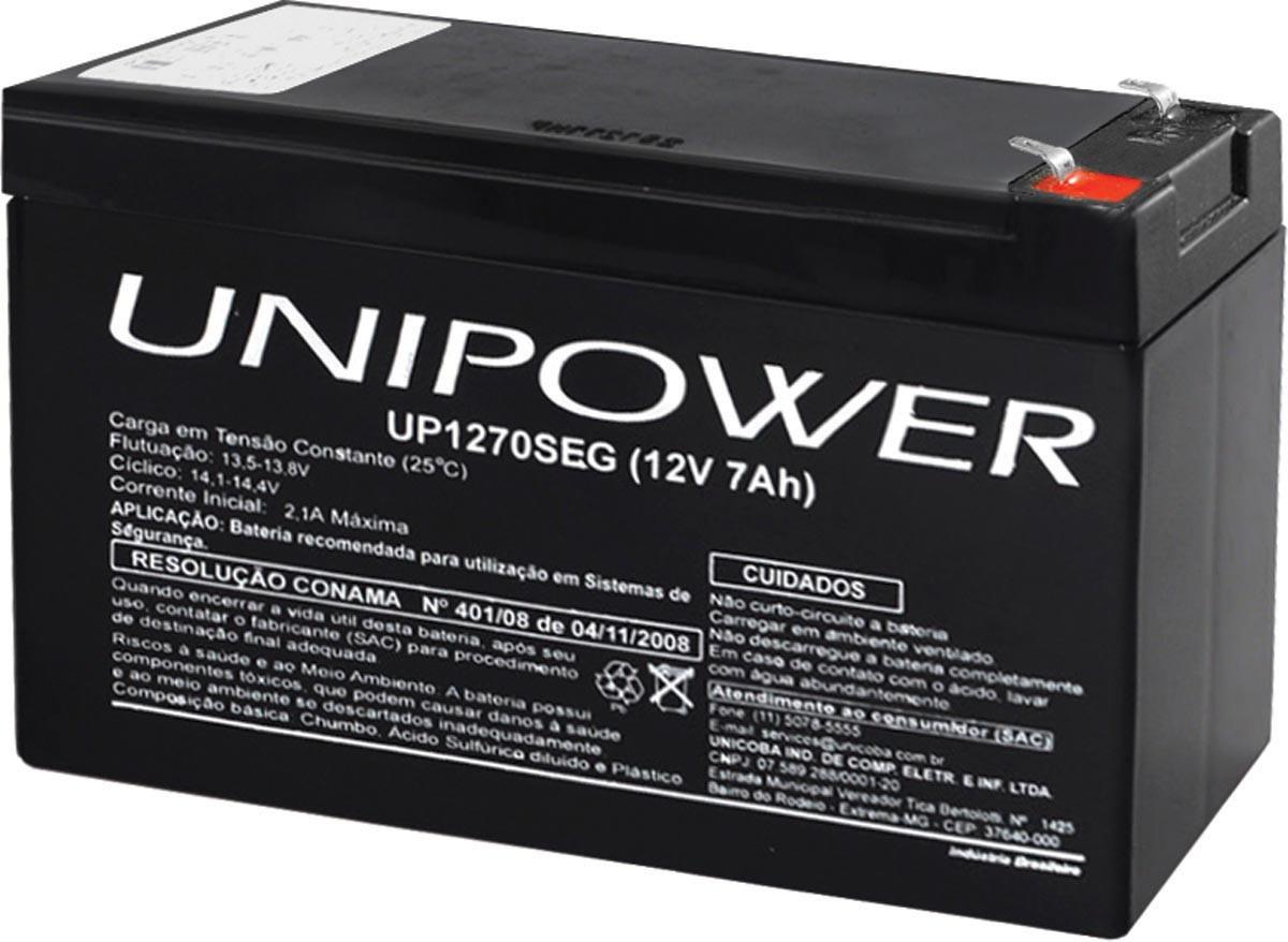 Bateria Estacionaria 12V 7,0 AH Unipower UP1270SEG F187