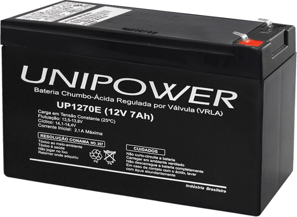 Bateria Estacionaria 12V 7AH Unipower UP1270E F187