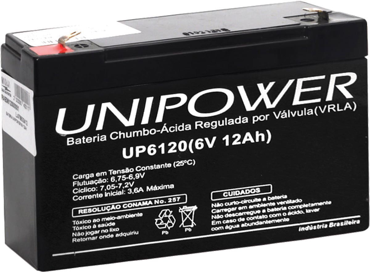 Bateria Estacionaria 6V 12AH Unipower UP6120