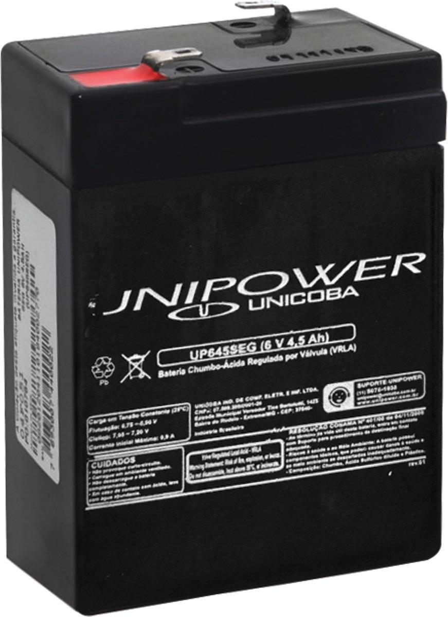 Bateria Estacionaria 6V 4,5AH Unipower UP645SEG