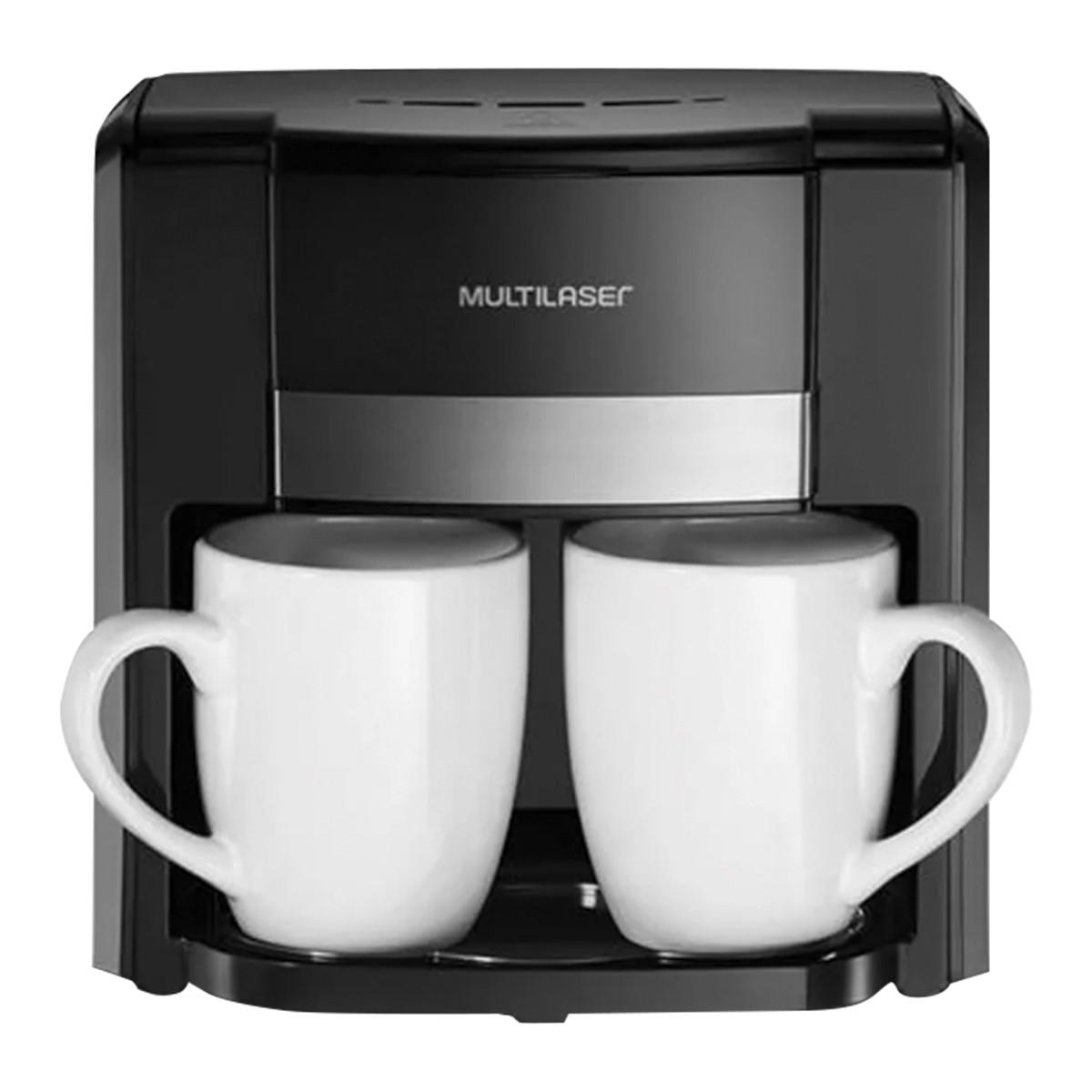 Cafeteira Eletrica 127V 500W 2 Xicaras + Colher Dosadora + Filtro Permanente Preta - BE009