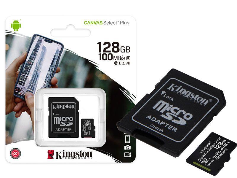 Cartão de memória 128Gb Kingston SDCS2/128GB Canvas Select Plus