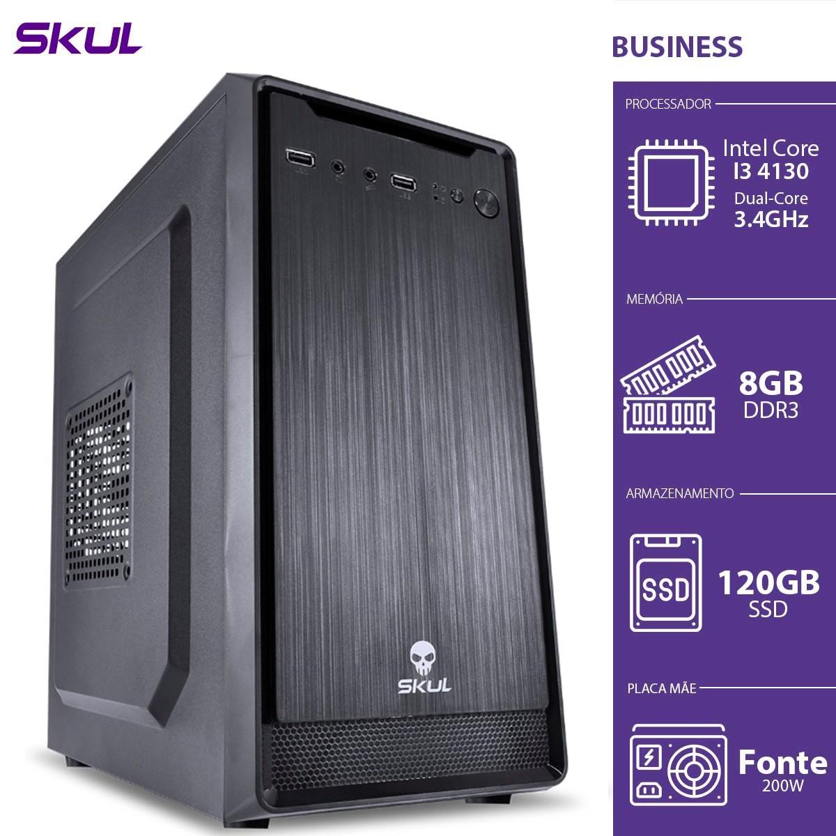 Computador Business B300 - I3-4130 3.4GHZ 8GB DDR3 SSD 120GB HDMI/VGA Fonte 200W - B41301208