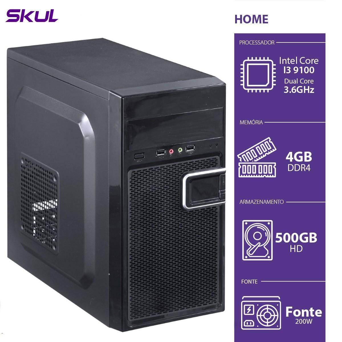 Computador Business B300 - I3-9100 3.6GHZ 4GB DDR4 HD 500GB HDMI/VGA Fonte 200W - B91005004