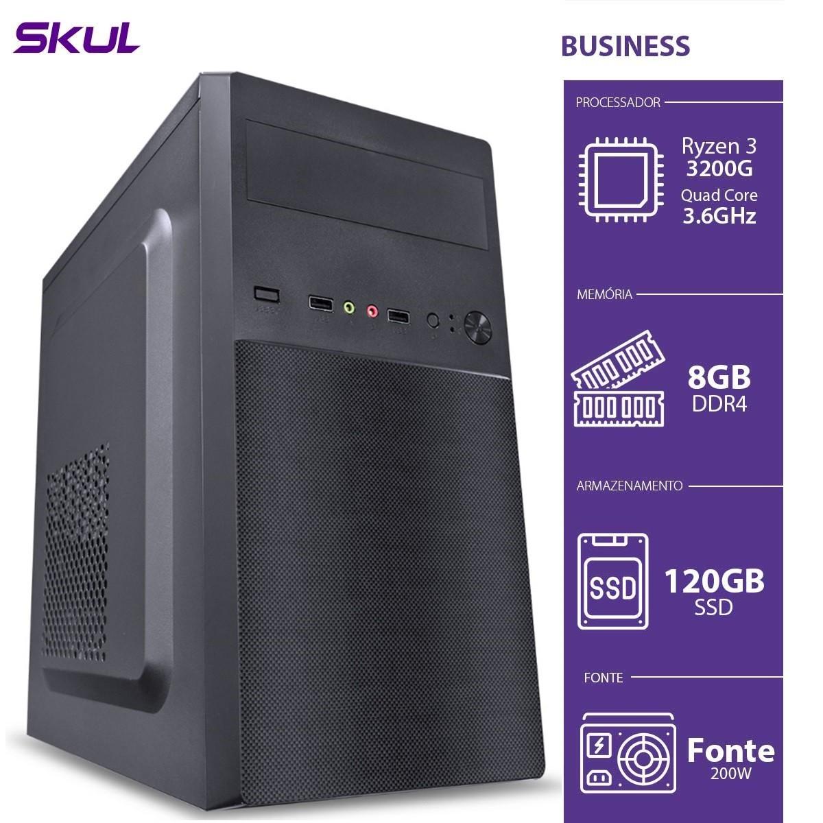 Computador Business B300 - RYZEN 3 3200G 3.6GHZ 8GB DDR4 SSD 120GB HDMI/VGA Fonte 200W