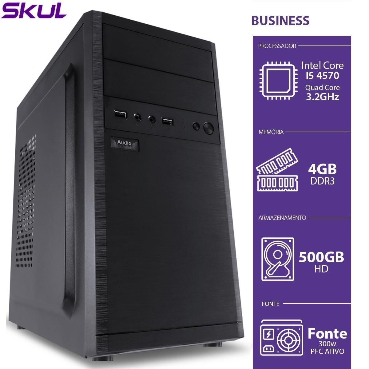 Computador Business B500 - I5-4570 3.2GHZ 4GB DDR3 HD 500GB HDMI/VGA Fonte 300 PFC Ativo