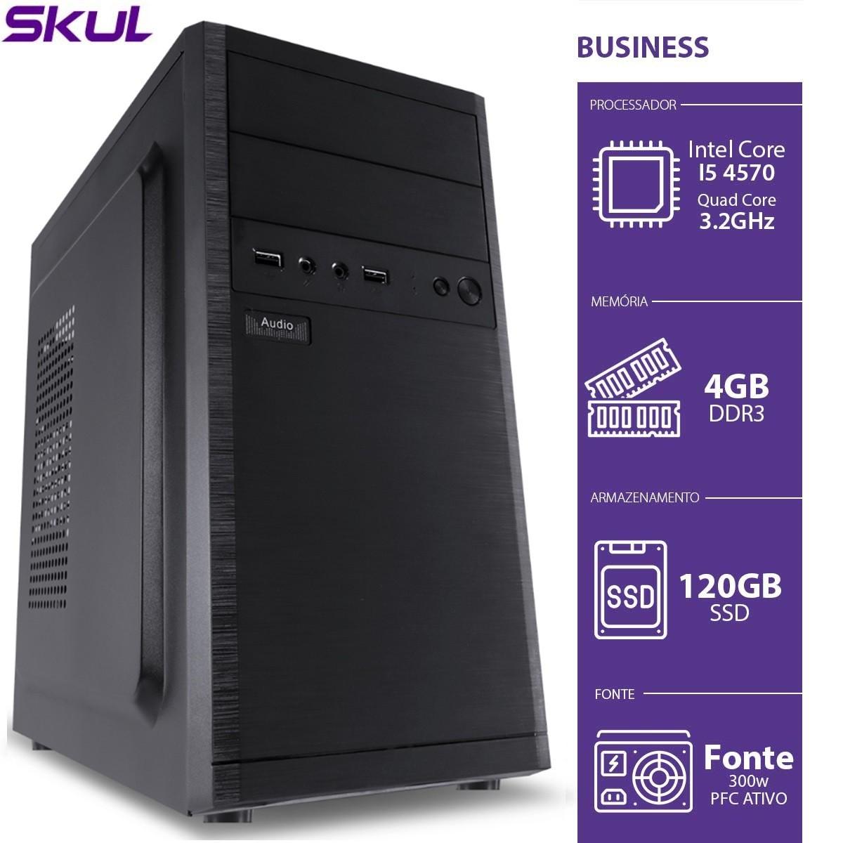 Computador Business B500 - I5-4570 3.2GHZ 4GB DDR3 SSD 120GB HDMI/VGA Fonte 300W PFC Ativo