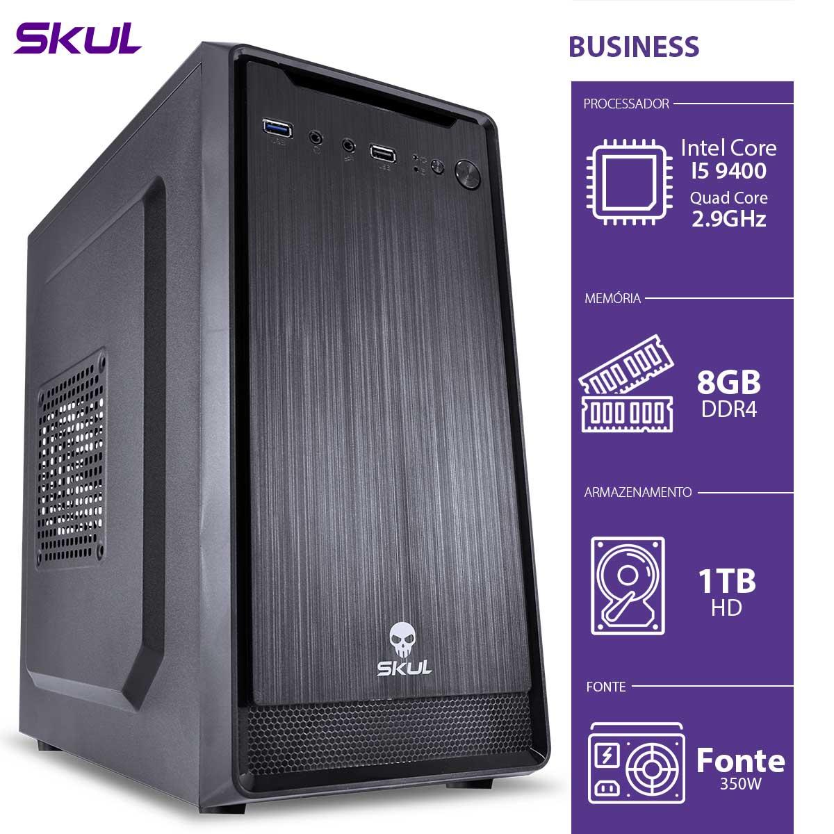 Computador Business B500 - I5-9400 2.9GHZ 8GB DDR4 HD 1TB HDMI/VGA Fonte 350W - B94001T8