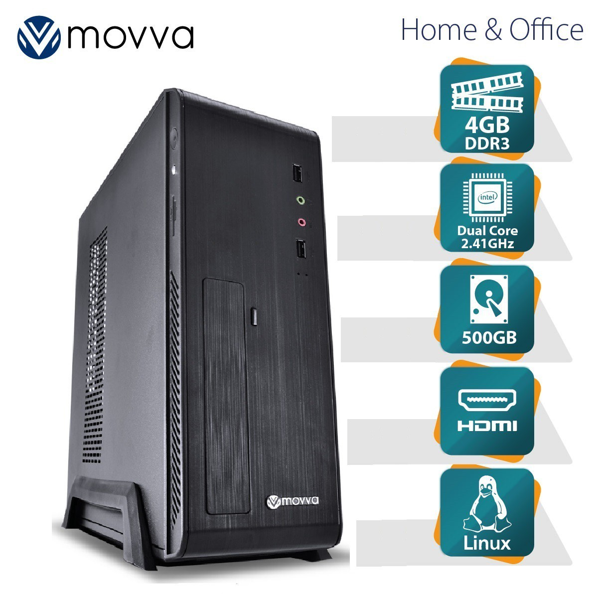 Computador Lite INTEL Dual Core J1800 2.41GHZ Memoria 4GB HD 500GB Fonte 275W Gabinete SLIM Linux