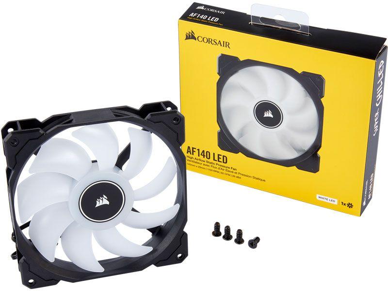 Cooler para Gabinete Corsair AF140 140MM LED Branco CO-9050085-WW