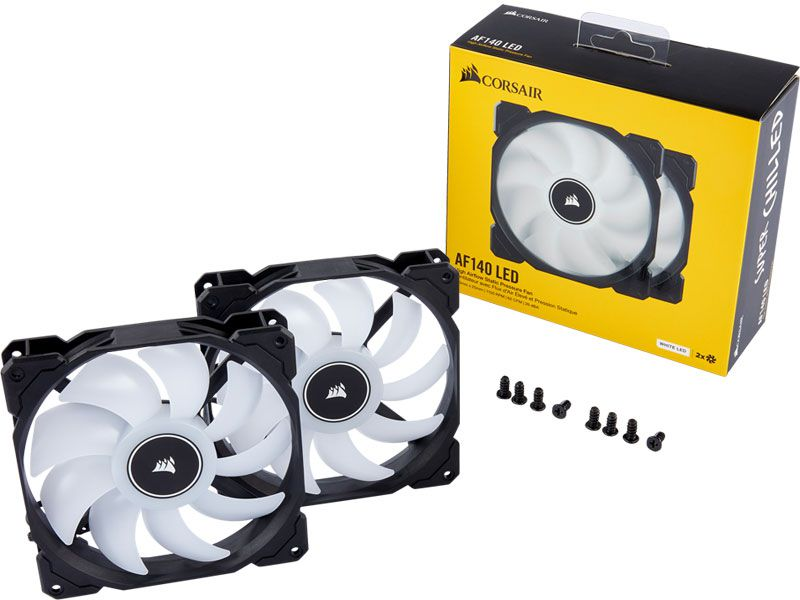 Cooler para Gabinete Corsair AF140 140MM LED Branco CO-9050088-WW C/ 02 UND