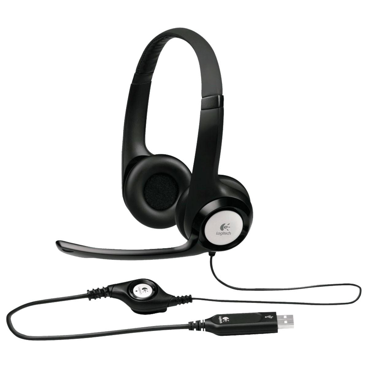 Fone com Microfone USB H390 Logitech 981-000014