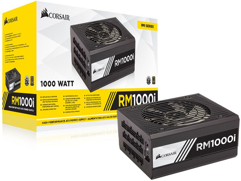 Fonte 80PLUS GOLD Corsair CP-9020084-WW RMI 1000W Digital PFC Ativo Bivolt Modular