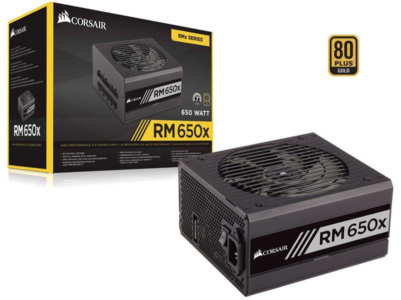 Fonte 80PLUS GOLD Corsair CP-9020178-WW RMX 650W ATX PFC Ativo Bivolt Modular