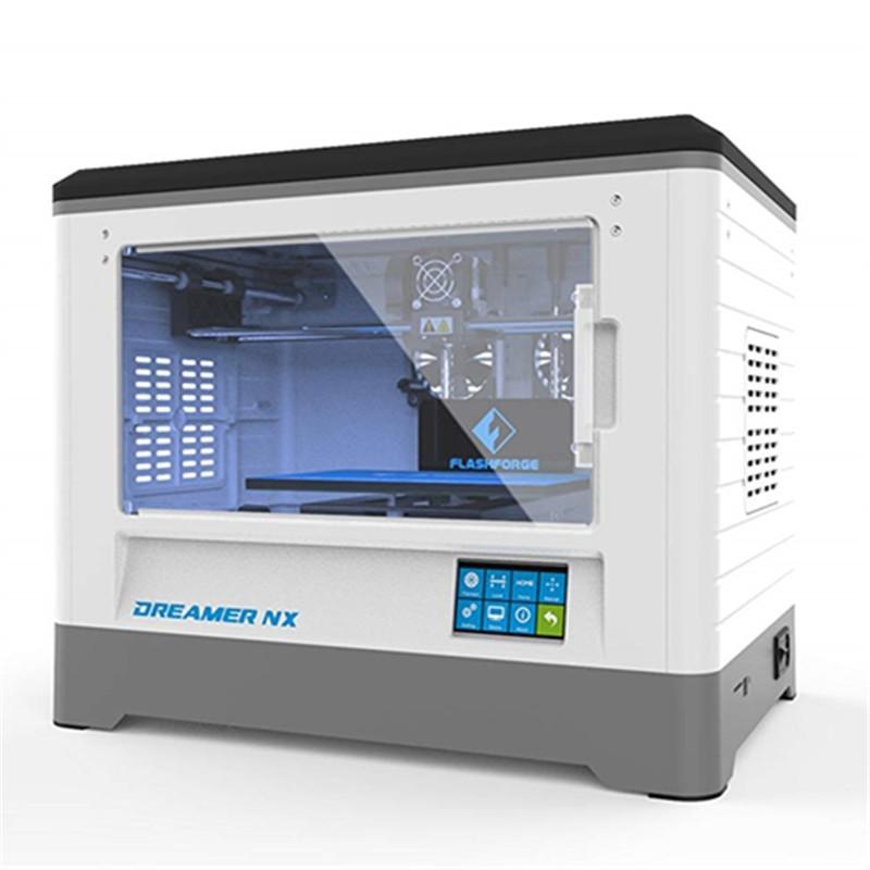 Impressora 3D Dreamer NX 230X150X140MM 1 Extrusora Plataforma Aquecida Wifi Câmara Fechada
