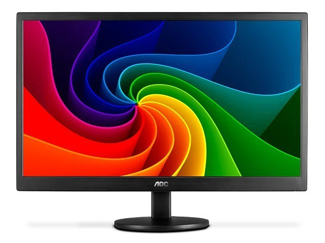 Monitor AOC LED 15.6´ Widescreen, VGA - E1670SWU/WM - Preto