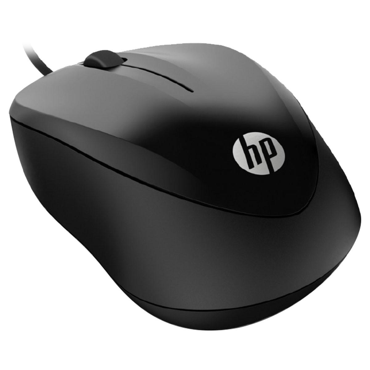 Mouse USB 1000 1200DPI Comprimento do Cabo 1,5M Preto